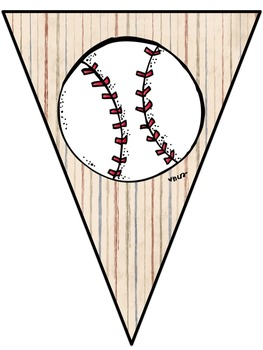 Baseball Themed Welcome Banner