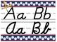 Baseball Themed cursive and print alphabet strip