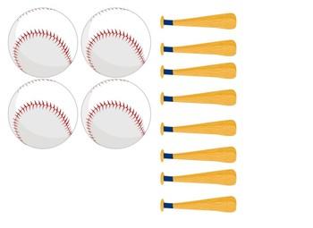 Baseball Themed number line 0-100
