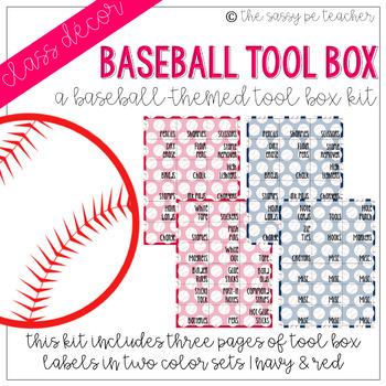Baseball Toolbox Labels