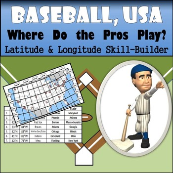 Latitude and Longitude Activity - Baseball, USA