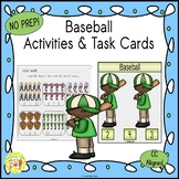 Baseball Activities and Task Cards