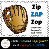 Baseball Verb ZAP Simple and Progressive Tenses