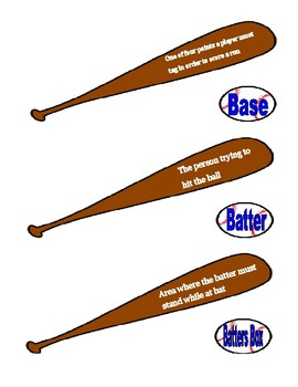 Baseball Vocabulary