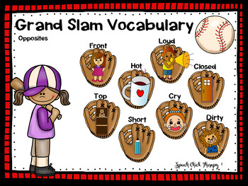 Baseball Vocabulary Mats for Speech Therapy