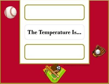 Baseball Weather Chart! Baseball Bulletin Board! Baseball Sports Theme!