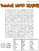 Baseball Word Search: 3 Difficulties