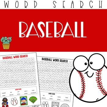 Baseball Word Search Worksheets Teaching Resources TpT