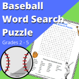 Baseball Word Search Puzzle - Fun Activity for Early Finis