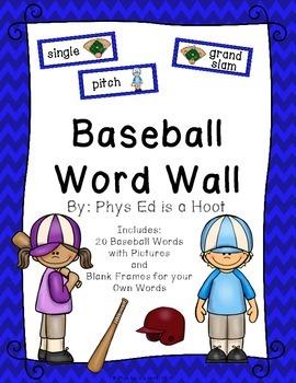 Baseball Word Wall Display