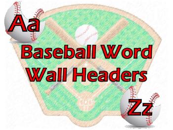 Baseball Word Wall Headers