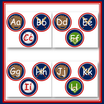 Baseball Word Wall Headers - Playball!