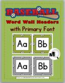 Baseball Sports Theme Classroom Decor Word Wall Headers