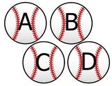Baseball Word Wall Letter Cutouts