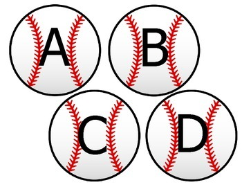 Baseball Word Wall Letter Cutouts