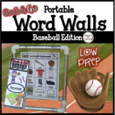 Baseball Word Walls: Sports Words, Printables, Thematic Wr