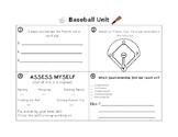 Baseball Worksheet