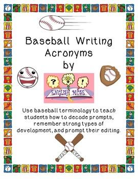 Baseball Writing Acronyms