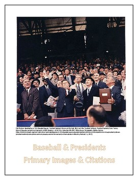 Baseball and US Presidents - Historic Primary Images