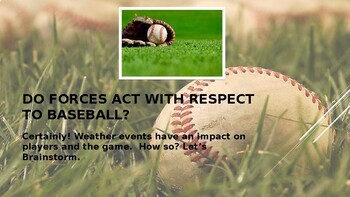 Baseball and Weather - STEM Powerpoint