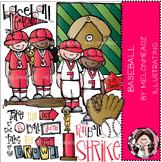 Baseball clip art- Melonheadz clipart