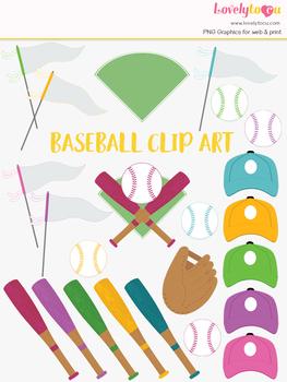 Baseball clipart, sports team clip art (LC28)