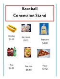 Baseball concession stand math
