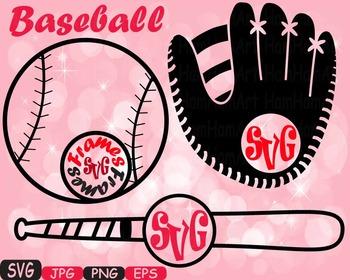 Baseball sport circle SVG Mascot cutting clipart t-shirt mom baseball dad 430S