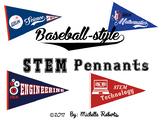 Baseball-style STEM Pennants
