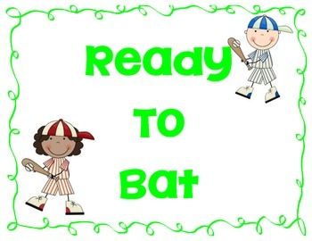 Baseball themed Behavior chart with Calendars