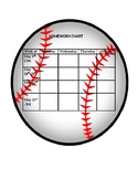 Baseball themed Homework or Incentive Chart