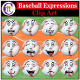 Baseballl Expressions Clipart | Sports Ball Emotions Clip Art