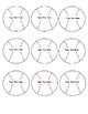 Baseballs & Bats Template Math Vocabulary Matching Stations