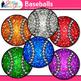 Rainbow Baseball Clip Art {Sports Equipment for Physical E