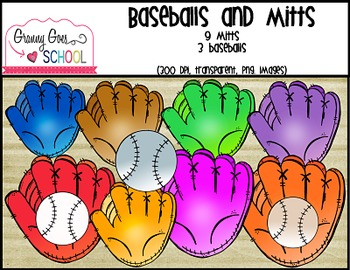 Baseballs and Mitts: Clip Art