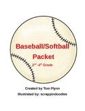 Baseball/softball packet 2nd-4th grade