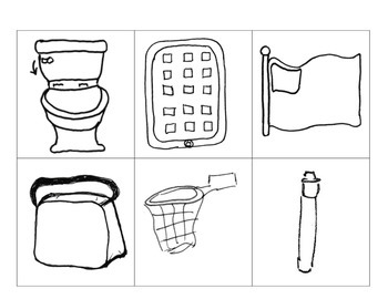 Basektball Hoop, iPad, Toilet (flush), Pen, Lunch Bag in PDF