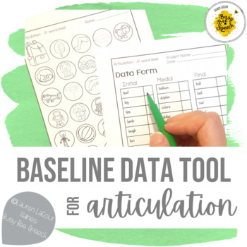 Back to School Baseline Data Tool for Articulation