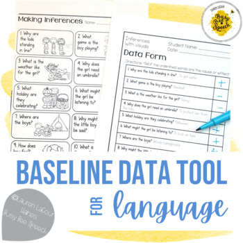 Baseline Data for Language Skills - Vocabulary, WH, Gramma