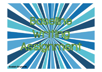 Baseline Writing Assignment
