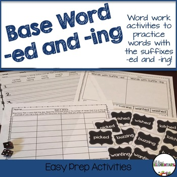 Baseword and suffix -ed and -ing