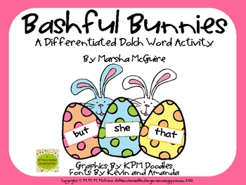 Bashful Bunnies - A Differentiated Dolch Word Activity