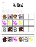 Basic 1-2 Pattern Worksheets
