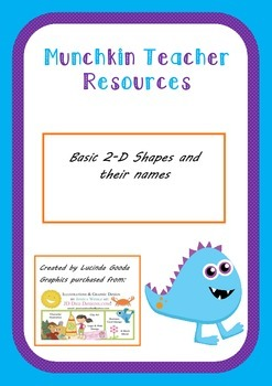 Basic 2-D shapes and matching name cards