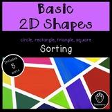Basic 2D Shapes Sorting