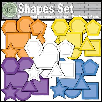 Basic 2D Shapes Super Clip Art Set {Messare Clips and Design}