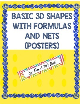 Shapes, nets, and Formulas (posters)