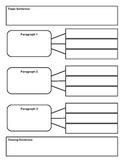 Basic 3 Paragraph Writing Graphic Organizer