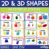 Basic and 3D Geometric Shape Posters | BUNDLE
