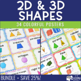 Basic and 3D Geometric Shape Posters | BUNDLE